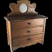 Late Victorian Child's Doll Dresser, Salesman Sample Chest