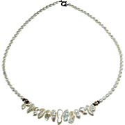 Baroque Freshwater Pearl Necklace with Sterling Silver Clasp