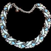 """1950's Trifari """"Garden Party"""" Pastel Enamel Necklace"""