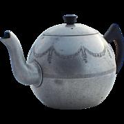 Mid-Century Swan Brand 8 Cup Aluminum Empire Teapot with Bakelite Handles