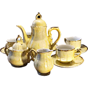 Vintage Pearl China Co. Iridescent Yellow Tea Service for 4