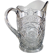 Antique Cut Glass Milk Pitcher circa early 1900's