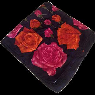 Spinoso Rose Garden Silk Scarf