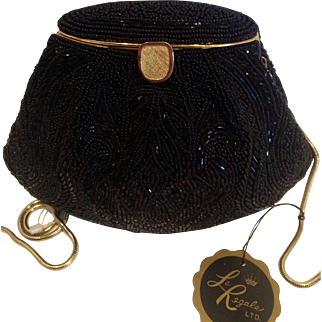 La Regale Vintage Black Clutch