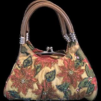 Beaded Floral Mini Handbag