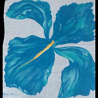 Anne Klein signed Iris Floral Scarf