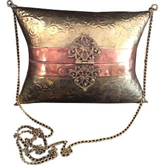 Victorian Style  Copper Minaudiere