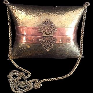 Victorian Style  Copper Minaudiere