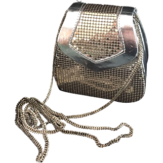 Whiting and Davis Silver Mesh Minaudiere