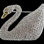 SWAROVSKI Crystal Iconic Swan Bug Brooch/Pin