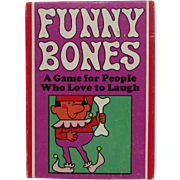 Funny Bones Card Game 1968. Similar to Twister. Parker Brothers. VINTAGE. NICE Condition