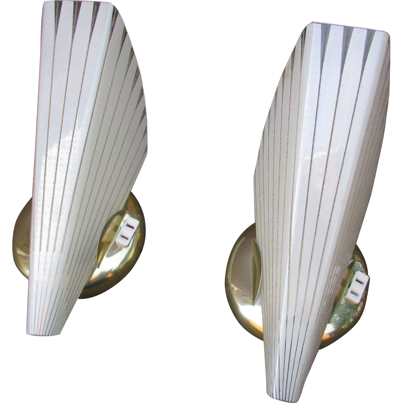 1950s Matching Set Of 2 Elegant Sconces Electric Wall