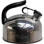 Paul Revere Stainless Steel Tea Kettle f93-C. Revere Ware. Korea.