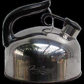 Paul Revere Stainless Steel Tea Kettle f93-C. Revere Ware. Korea.