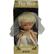 Pee Wee. The Pocket Size Doll by Uneeda.  104F Bride Time in Original Box