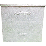 Vintage Galvanized Milk Box. Porch or Garden Decoration. Planter. Flower Pot. Full Size.  Cacoosing Dairy, West Lawn, PA