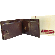 Vintage Men's Genuine Goatskin Wallet.  Sir Pioneer