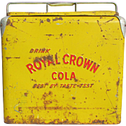 R.C. Cola. Royal Crown Cola. MidCentury Cooler Ice Chest