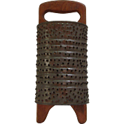 Very Nice Vintage Handmade Grater, Punched Tin Kitchen Grater!  Americana Mid-Century