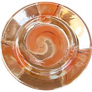 Royal Haeger 2069 U.S.A. Vintage Haeger Ashtray 2069. Orange Swirl.