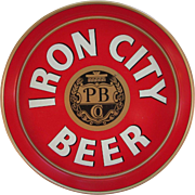 Vintage Iron City Beer Pittsburgh Brewing Co. Metal Beer Tray from The Seventies