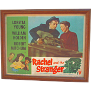 Rachel and the Stranger 1954 Framed Lobby Card Robert Mitchum and Loretta Young