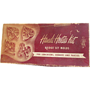 Bridge Set Molds Handi Hostess Kit, Recipes and Directions, Luncheons, Dinners, Parties.