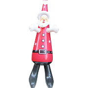 Inflatable Santa Claus Christmas Decoration, VINTAGE 1970s Hard to Find!