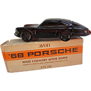 Avon '68 Porsche with 2 Fl. Oz Wild Country After Shave. In Original Box