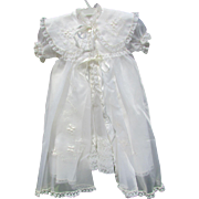 Baptismal Set, Gown, Slip, Bonnet, Dress, Shirt. Mid Century Christening Gown. Clothing. Very Nice Condition In Original Box