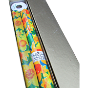 Fabulous Box of Floral Wrapping Paper with Matching Tissue Paper and 15 Yards of Yellow Ribbon