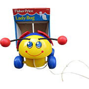 1993 Fisher Price Lady Bug Pull Toy.  In Original Box.