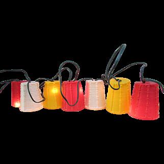 RETRO Set of Patio Lanterns. Pool Lights. IOB. Vintage. 7 Tiki Lights. In Original Box. RV Lights.