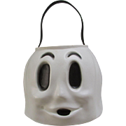 Happy Ghost Bucket. Halloween. Candy Pail. Ghost Head. Trick or Treat. Empire Plastics.
