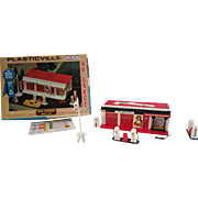 Plasticville HO Gauge Esso Gas Station 2807-150.  Texaco Gas Station. Bachmann Brothers.
