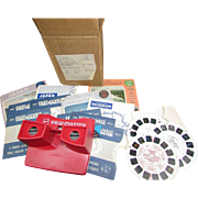 1970s GAF View Master Mail In Offer in Original Box with 12 Disks.