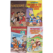 Set of 4 Vintage Flintstones Softcover Books. Hanna Barbera