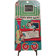 The Teddy Bear Train.  Fun House Book with Tiny TV.  1966 James & Jonathan, Inc. #3971