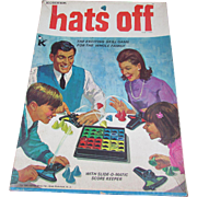 1967 Hats Off Game by Kohner. Complete with All Parts.