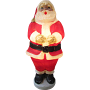 """Vintage 32"""" Blow Mold Santa Claus.  Decorative Outfit by General Foam Plastics.  Hard to Find!"""
