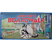 Advance to Boardwalk. VINTAGE Parker Brothers Board Game Dated 1985