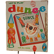 Dunce, Family Game for All Ages COMPLETE SCHAPER Let's Play Dunce.