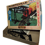 Plasticville HO Gauge Signal Bridge 2620-100.  Vintage Bachmann Brothers. In Original Box