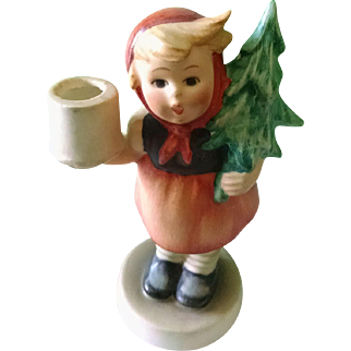 Girl with Fir Tree Candlestick - Hummel 116