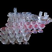 Fostoria Glass- Navarre, Stem #6016, Plate Etching #327