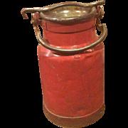 Small Red Milk Churn