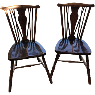 Windsor Stick Back Chairs x 4