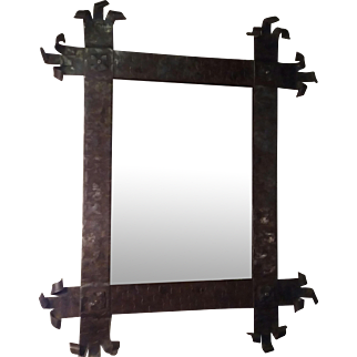 Antique Wrought Iron Mirror Frame