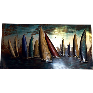 Sailing Boats Sheet Metal Artwork