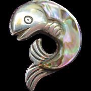 Vintage William Spratling Mexican Silver Fish Brooch